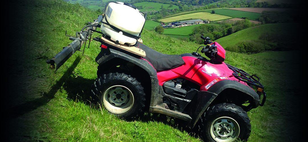 ATV & Knapsack Spraying, Somerset, Dorset, Devon, Bridport, Beaminster, Lyme Regis, axminster, crewkerne, yeovil, dorchester, weymouth